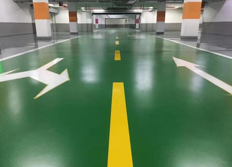 地下停車庫耐磨環氧地坪工程施工